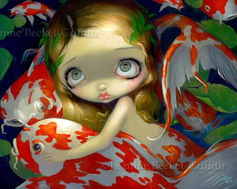 MERMAID AMONGST THE KOI FISH POND - JASMINE BECKET-GRIFFITH