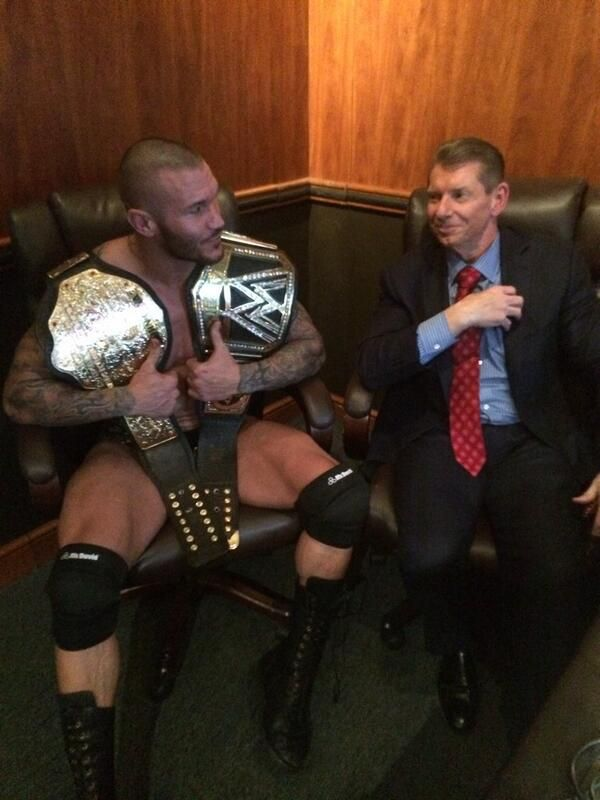 Champion Randy Orton.  Chairman Vincent McMahon