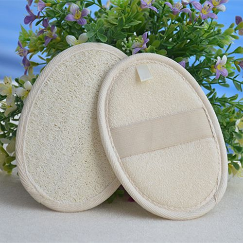 Latest Best Exfoliating Loofah Pad Loofa Sponge Scrubber Bath Spa Shower Brush Close Skin T6YU
