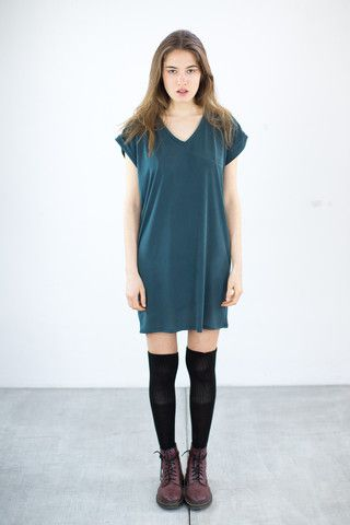 T-shirt Dress Yakumi Gray Green
