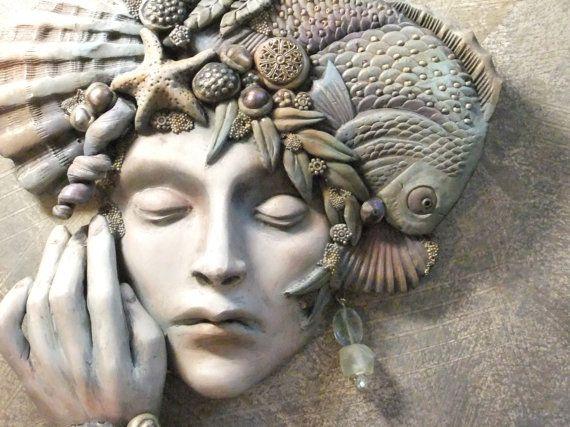Mermaid Sea Shell Crown Mermaid Mask Water Nymph by OneDegreeEast