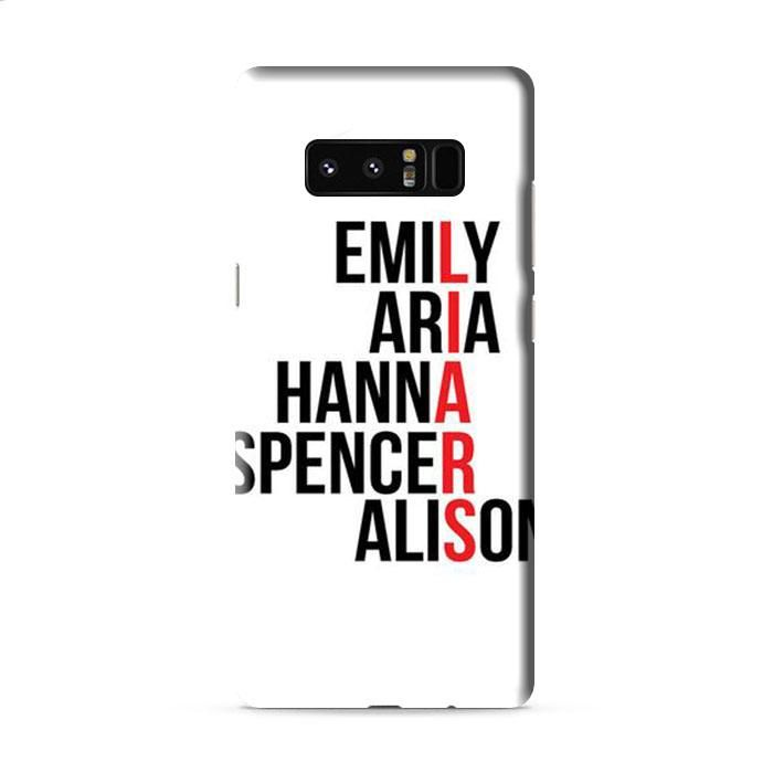 Pretty Little Liars Character's Names Samsung Galaxy Note 8 3D Case Caseperson