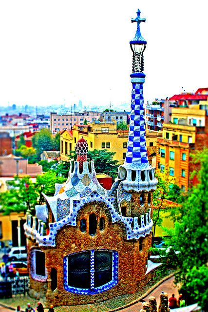 Gaudi gingerbread house @ Park Guell in Barcelona -- #TBEX Costa Brava next week, can't wait!Barcelonaspain, Parks Guell, Architecture, Travel, Places, Gingerbread Houses, Barcelona Spain, Gaudi Gingerbread, Antoni Gaudí
