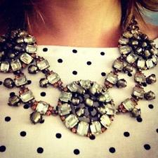 Ali Santano   Stella & Dot: Polka Dots, Statement Necklace, Style, Bibs, Dot Estate, Bib Necklaces, Estate Bib, Stella Dot