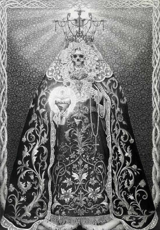 I wish this Laurie Lipton piece would end up on an All Saints shirt so I can BUY IT!
