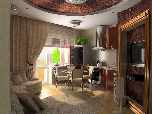 Дизайн  встроенных кухонь.