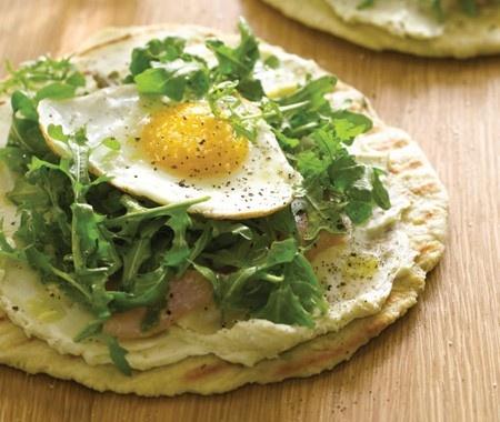 A new twist on a Piadina: Crispy Breakfast Pitas Recipe | from Giada's Weeknights With Giada cookbook | House & Home