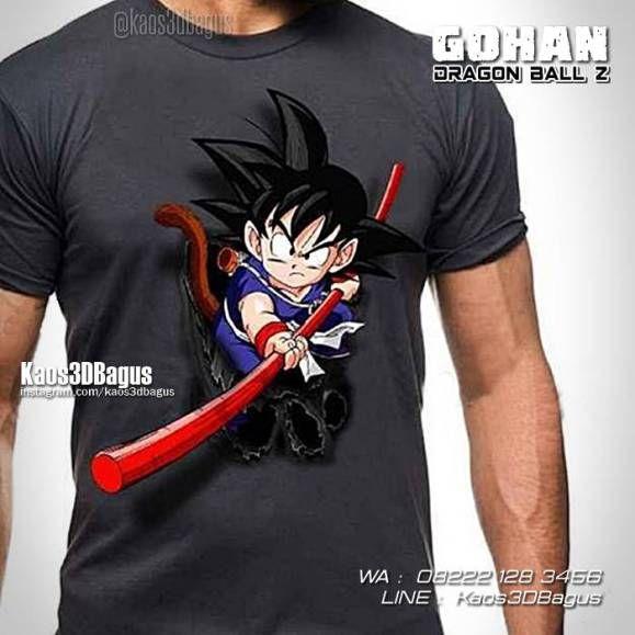 Kaos DRAGON BALL Z, Kaos Son Gohan, Kaos 3D Karakter Animasi Dragon Ball, https://kaos3dbagus.wordpress.com, WA : 08222 128 3456, LINE : Kaos3DBagus