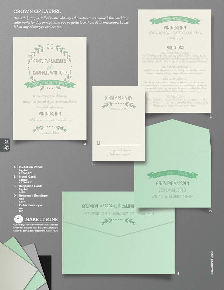 wedding invitation mint green%0A Laurel Wreath Wedding Invitation Vintage Wedding by SuitePaper