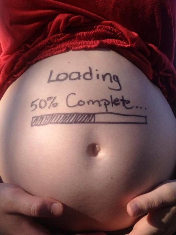 loading 50% pregnancy pic