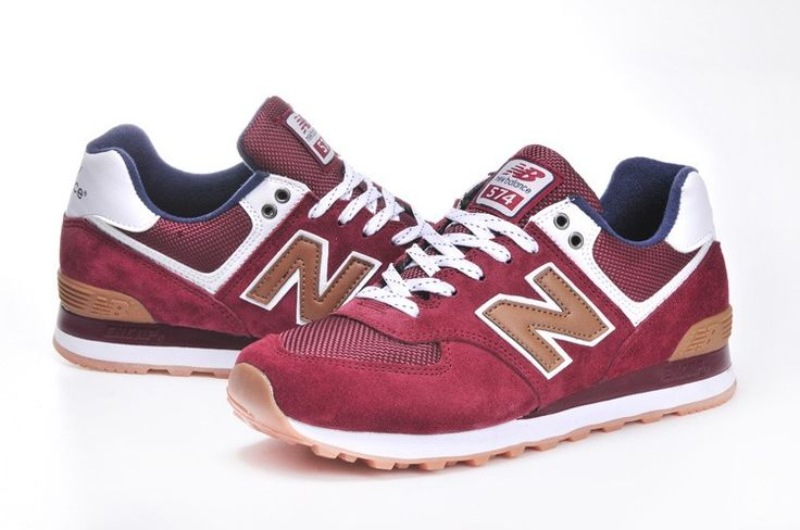 New Balance 574 Canteen Pack ML574CAO Unisex Burgundy White Navy Blue Brown Trainers