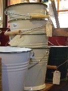 Romanian Enamelware - Bucket 5 litre - Compost Bucket with the matching lid