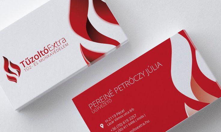 Névjegykártya - Tűzoltó Extra Kft. Arculattervezéssel kapcsolatban keresse weboldalunkat: http://bfdesign.hu/arculattervezes/