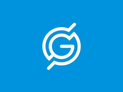 GS monogram / globe / scanning radar, logo design symbol