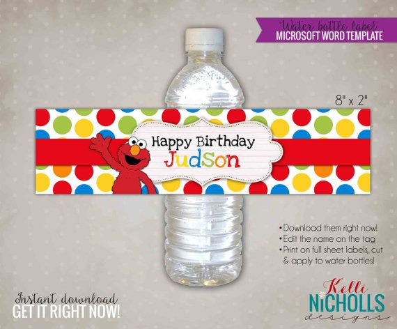 23 best DIY Water Bottle Label Stickers images on Pinterest - water bottle label template