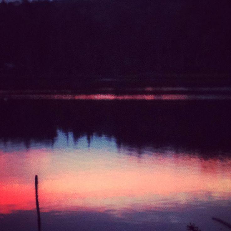Twitchell lake at dusk