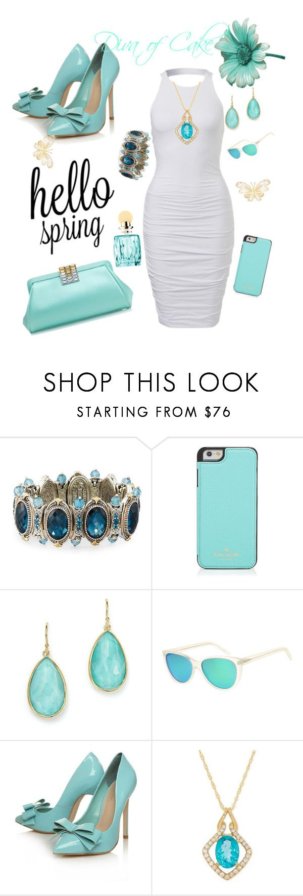 """Summer outfit"" by  Diva of Cake  on Polyvore featuring Konstantino, Kate Spade, Tiffany & Co., Ippolita, L.G.R, Carvela Kurt Geiger and Miu Miu"
