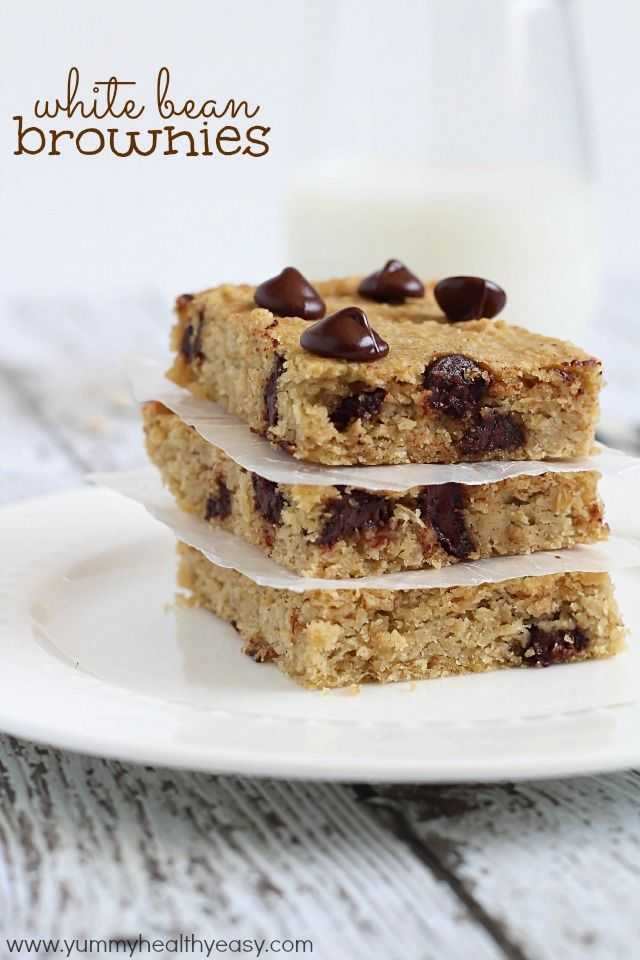 White Bean Brownies - gluten free brownies made using garbanzo beans (aka chickpeas) instead of flour. Soft, easy to make and delicious