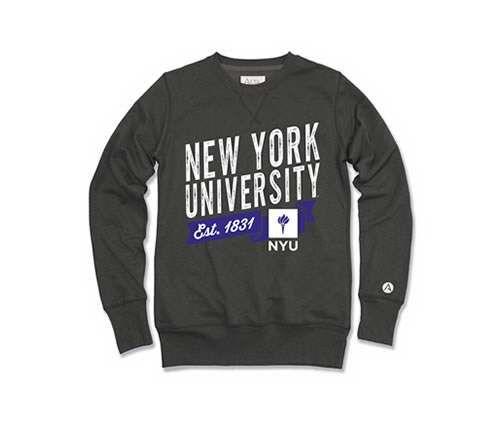 york university hoodie. new york university bookstores - nyu juan crew sweatshirt hoodie