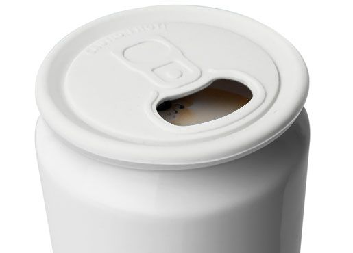 $20 CuppaCan : an insulated porcelain mug that's both a cup AND a can. . . keeping your drink nice and hot while you look cool and refreshed. Ha.