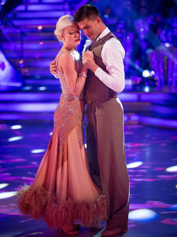 Helen George dances in the first Strictly show