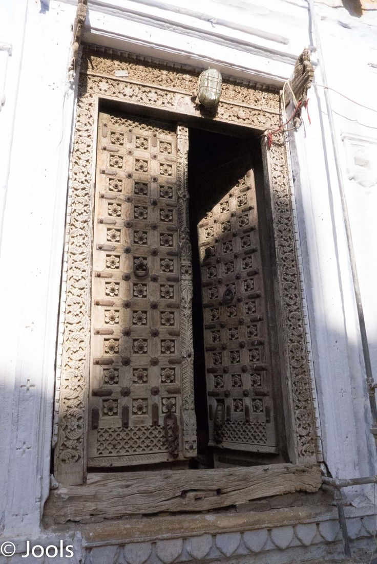 Doorway in Jaisalmer, Rajasthan. Everyone in India, it seems, pays careful attention to doorways, from ancient to modern, most of them are beautiful.