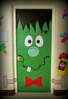Porta decorada Frankenstein