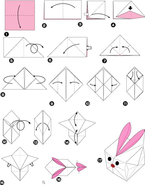 origami rabbit box origami pinterest