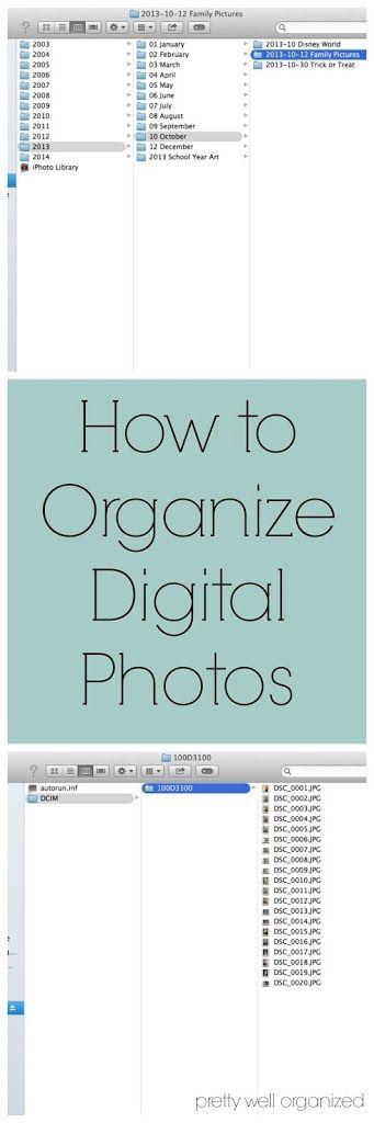 How to organize digital photos!