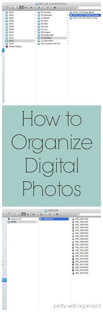 How to organize digital photos!