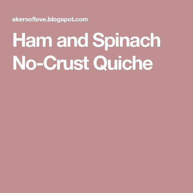 Ham and Spinach No-Crust Quiche