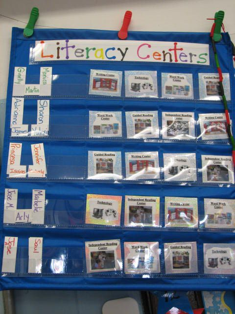 Classroom Literacy Ideas : Great idea for organizing center activities centers and