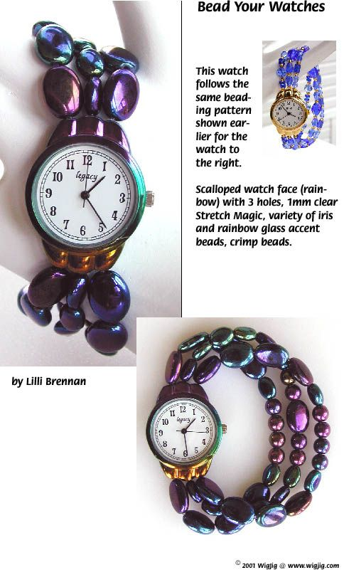 Bead Your Watches made with WigJig jewelry making tools, beads and jewelry supplies.