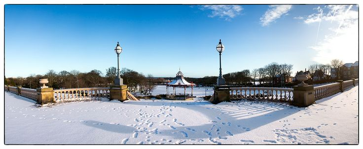 Winter at South Marine Park, South Shields.