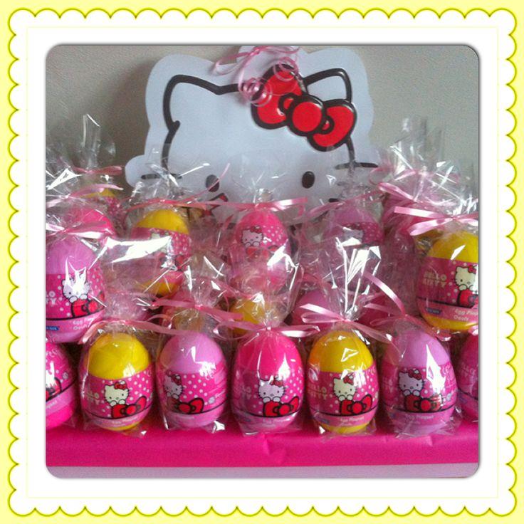 Hello Kitty verrassingsei traktatie  www.kindertraktaties.jouwweb.nl