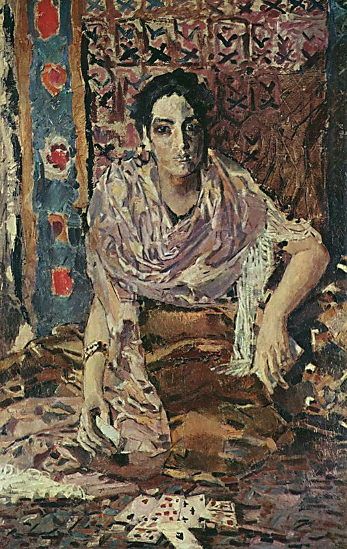 'The Fortune Teller' -  Mikhail Vrubel (1856-1910)