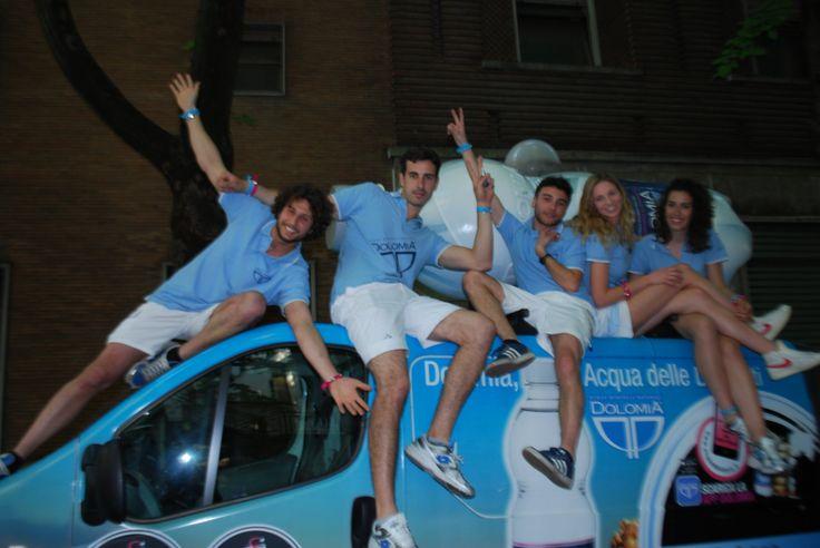 Eccoci! Elisa, Filippo, Roberto, Beatrice ed Enrico, del Team Acqua Dolomia!