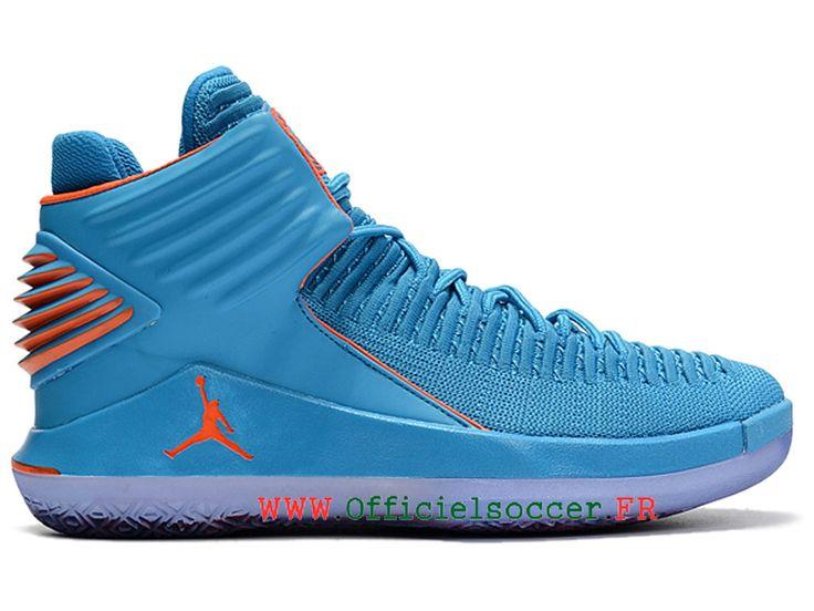 2018 Air Jordan 32 Retro officielles Chaussues Nike La culture Jordan Pour  Moins cher Homme Bleu