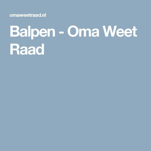 Balpen - Oma Weet Raad