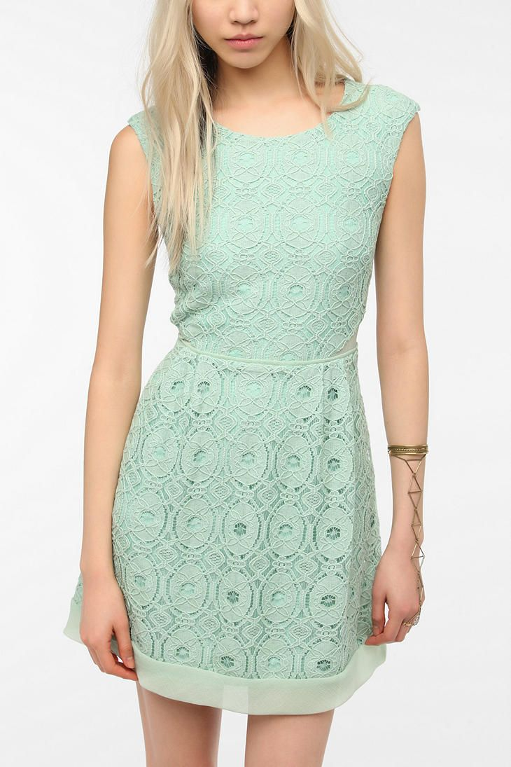 33 best mint bridesmaid dresses images on pinterest mint bridesmaid inspiration kimchi blue camilla medallion lace dress at urban outfitters ombrellifo Choice Image