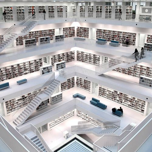 a new library in Germany. um i want to go