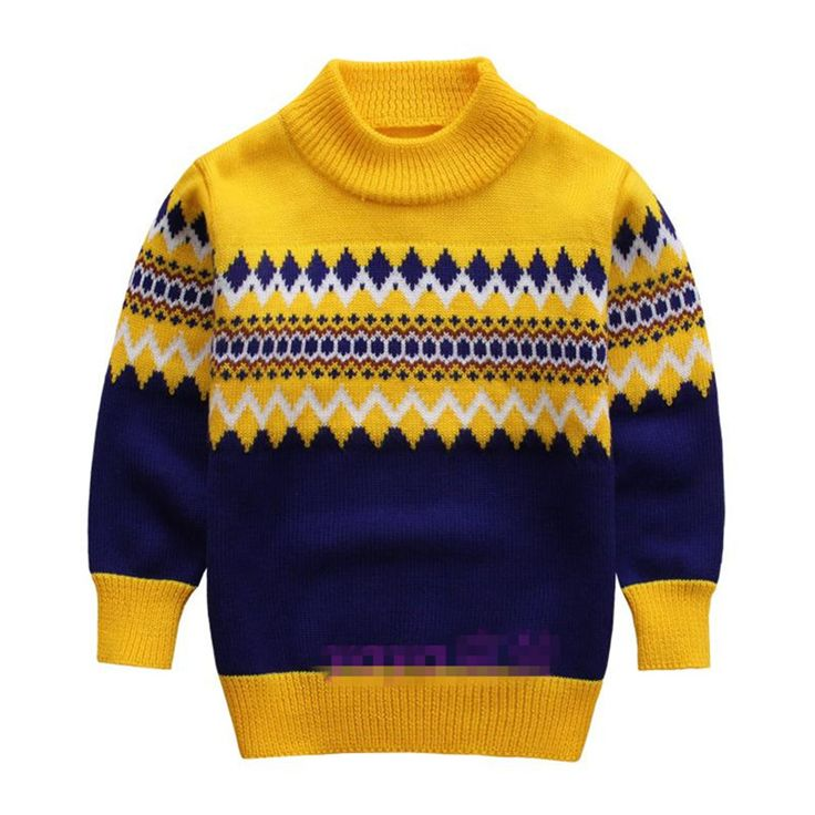 Knitted Sweater for boys 2015 Autumn Winter Boy Sweater Children Turtleneck Christmas Sweaters Boy Pullover Kids clothing 5-9T