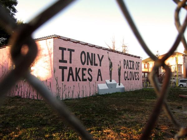 West Oakland Mural on Mandela Parkway