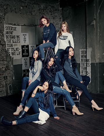 Dal Shabet Poses In Denim | Koogle TV