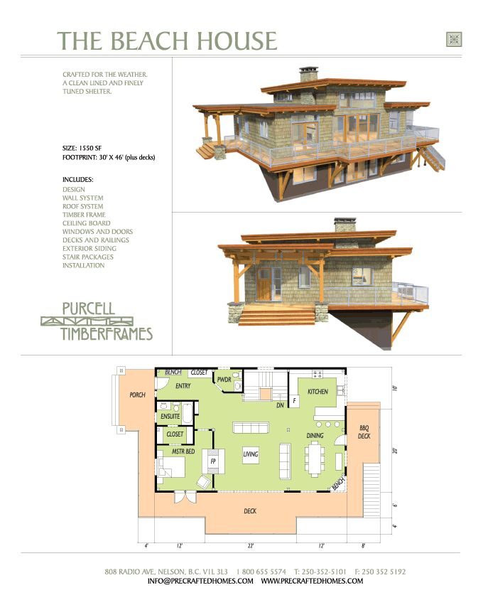 Purcell Timber Frames Prefab Home Packages The Beach
