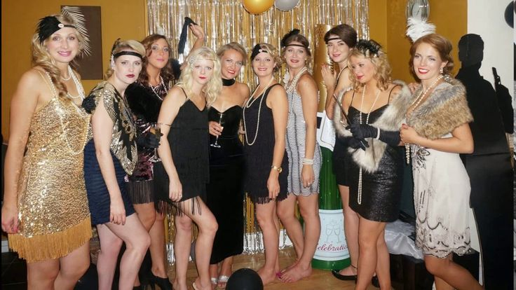 The great gatsby dress up party - YouTube