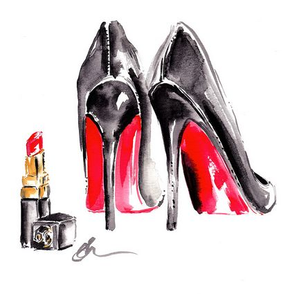 Heels and lippy are a girl's best friend! We love this print by one of our artists Stephanie Dellaportas.