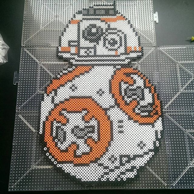 BB-8 Star Wars:The Force Awakens perler beads by  ras_al_ghul_