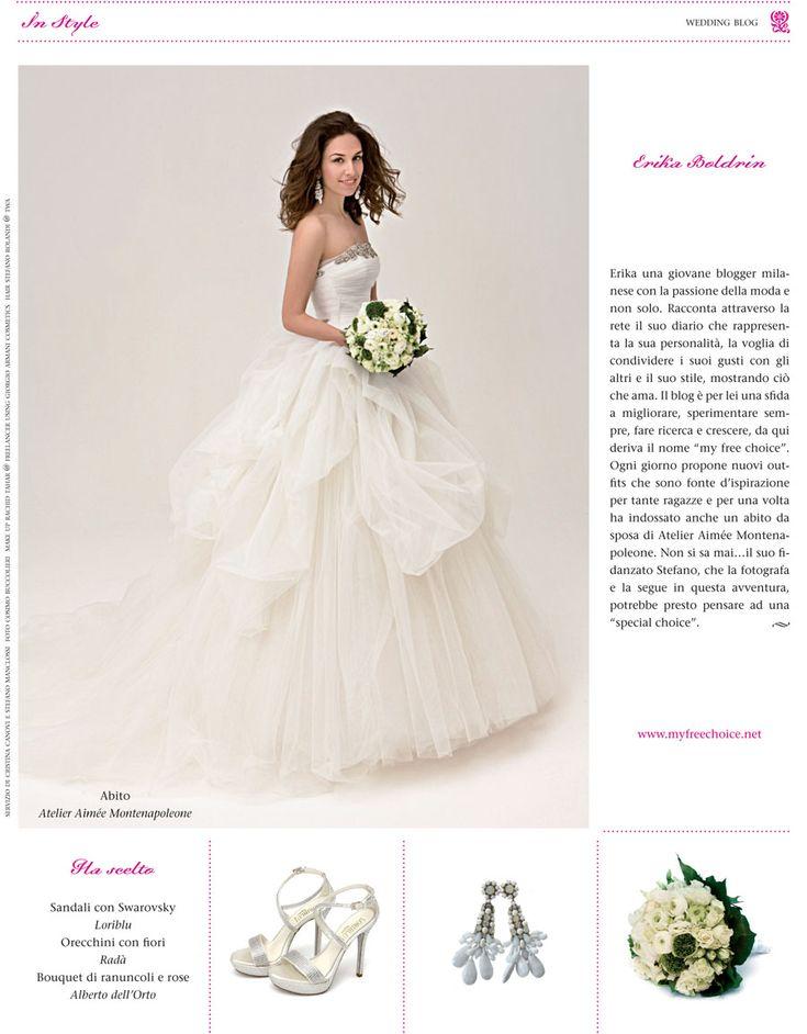 Erika Boldrin per White Sposa http://www.myfreechoice.net/ #bridal #fashion #sposa #flower