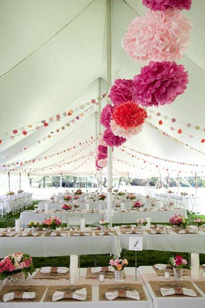 party tent versieren